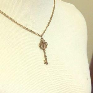 "Costume Jewelry ""Key"" Necklace"